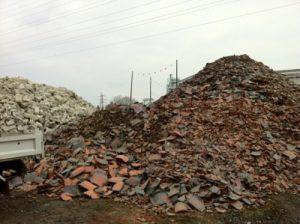 島根県松江市ルラクホーム瓦礫の山