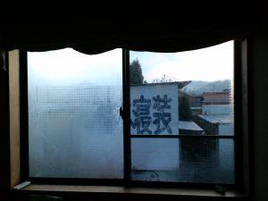 島根県松江市ルラクホーム結露のある窓